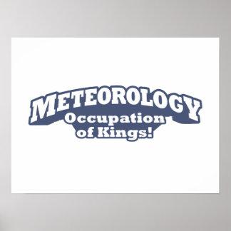 ¡Meteorología - empleo de reyes! Póster
