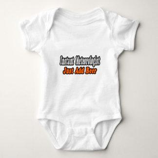 Meteorologist...Add Beer Baby Bodysuit