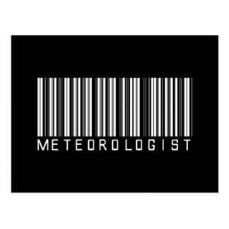 Meteorologist Bar Code Postcard