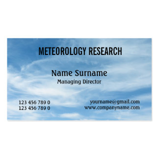 Meteorologist cloud nephology PERSONALIZE Business Card