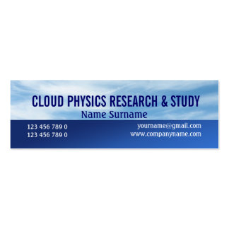 Meteorologist cloud nephology PERSONALIZE Mini Business Card