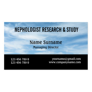 Meteorologist cloud nephology research PERSONALIZE Business Card