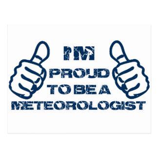 Meteorologist Design Postcard