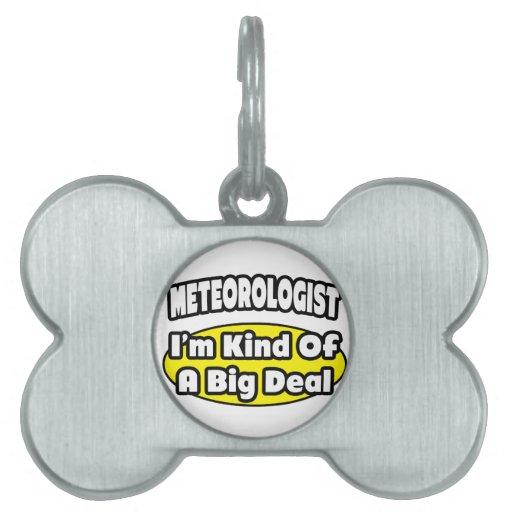Meteorologist = Kind of a Big Deal Pet ID Tag