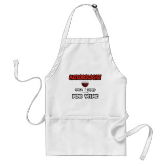 Meteorologist ... Will Work For Wine Adult Apron