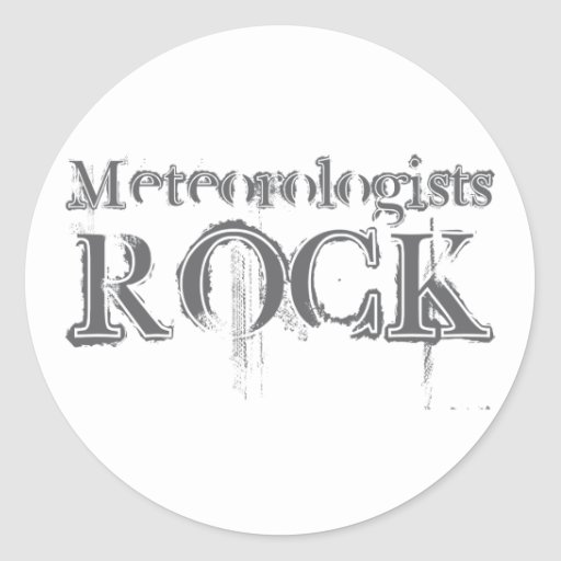 Meteorologists Rock Classic Round Sticker