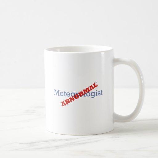 Meteorólogo/anormal Tazas De Café
