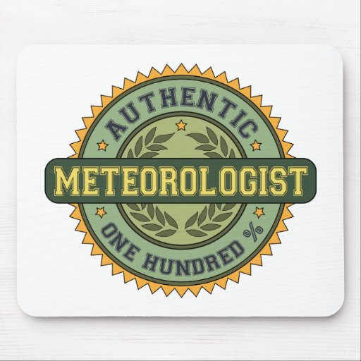 Meteorólogo auténtico alfombrillas de raton