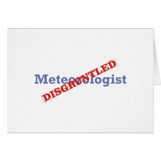 Meteorólogo/contrariedad Tarjeta De Felicitación