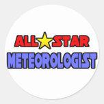 Meteorólogo de All Star Etiquetas Redondas