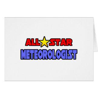 Meteorólogo de All Star Tarjeta De Felicitación