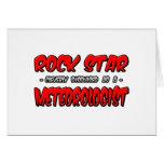 Meteorólogo de la estrella del rock… felicitación
