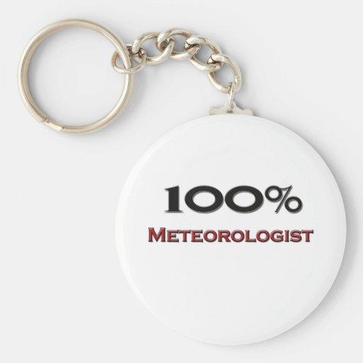 Meteorólogo del 100 por ciento llavero personalizado
