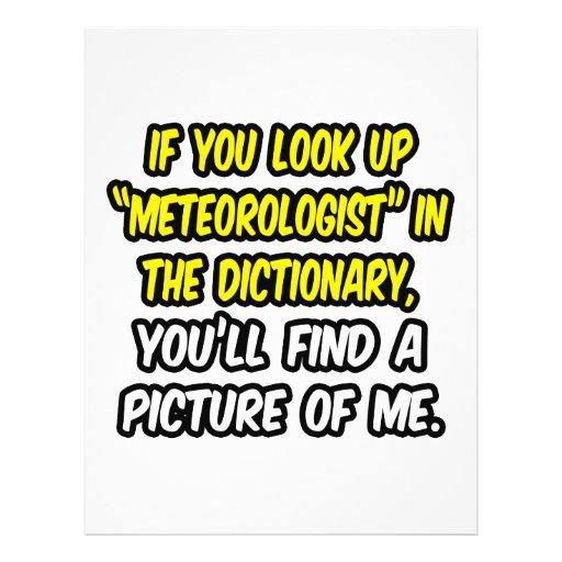 Meteorólogo en diccionario… mi imagen tarjeta publicitaria