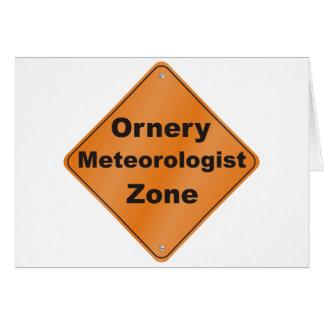 Meteorólogo intratable tarjeta de felicitación