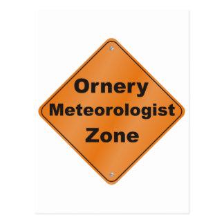 Meteorólogo intratable tarjeta postal