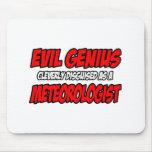 Meteorólogo malvado del genio… tapete de ratón