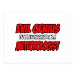 Meteorólogo malvado del genio… tarjeta postal