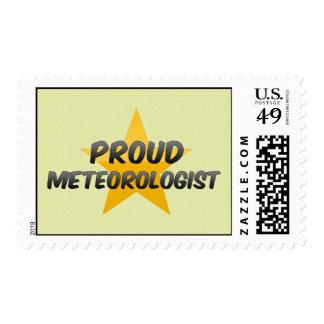 Meteorólogo orgulloso sellos postales