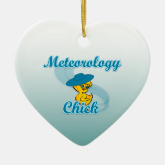 Meteorology Chick #3 Ceramic Ornament