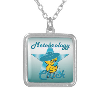 Meteorology Chick #7 Silver Plated Necklace