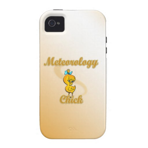 Meteorology Chick iPhone 4 Covers
