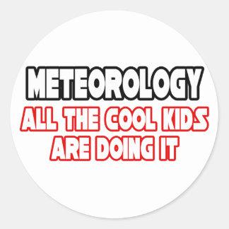 Meteorology...Cool Kids Classic Round Sticker