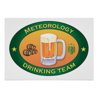 Meteorology Drinking Team Poster
