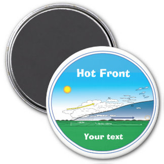 Meteorology hot front -ring blue magnet