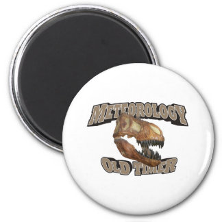 Meteorology Old Timer! 2 Inch Round Magnet