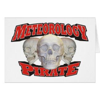 Meteorology Pirate Greeting Card