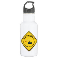 Meteors A Major Hazard To Life On Earth (Sign) 18oz Water Bottle