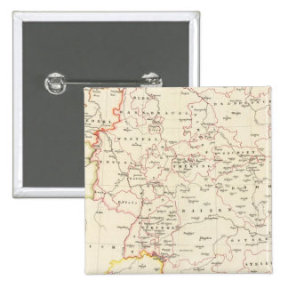 meterological stations throughout Central Europe 2 Inch Square Button