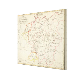meterological stations throughout Central Europe Canvas Print