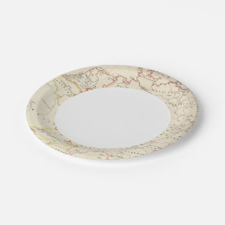meterological stations throughout Central Europe Paper Plate