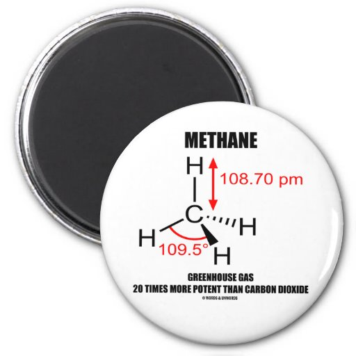 Methane Greenhouse Gas 20 Times More Potent 2 Inch Round Magnet