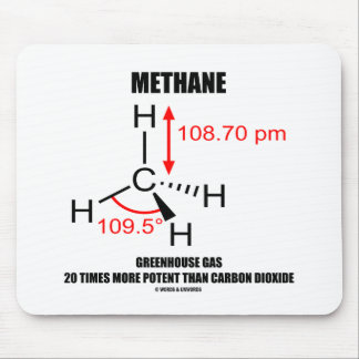 Methane Greenhouse Gas 20 Times More Potent Mousepads