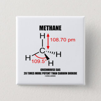 Methane Greenhouse Gas 20 Times More Potent Pinback Button