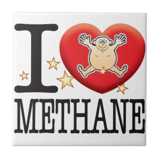 Methane Love Man Small Square Tile