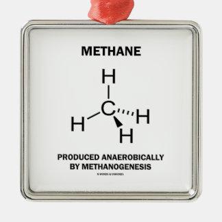 Methane Produced Anaerobically By Methanogenesis Metal Ornament