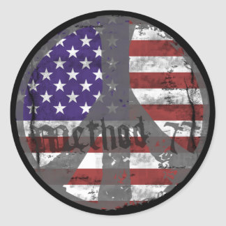 Method 77 3 USA Peace stickers