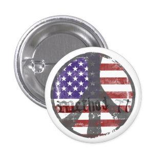 Method 77 USA Peace Mini Buttons