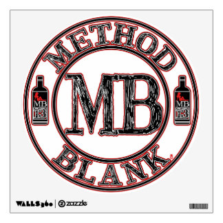 Method Blank MB13 Label Circle Wall Decal