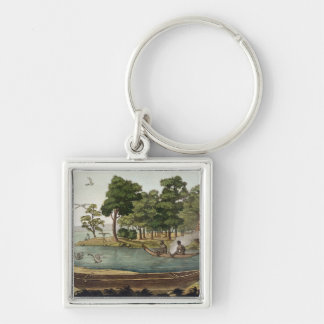 Method of Navigation in New Holland, engraved by F Keychain