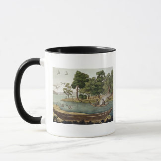 Method of Navigation in New Holland, engraved by F Mug