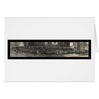 Methodist Bible Class Photo 1911 Card