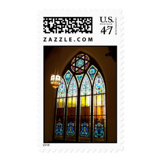 Methodist Church Stain Glass Stamp