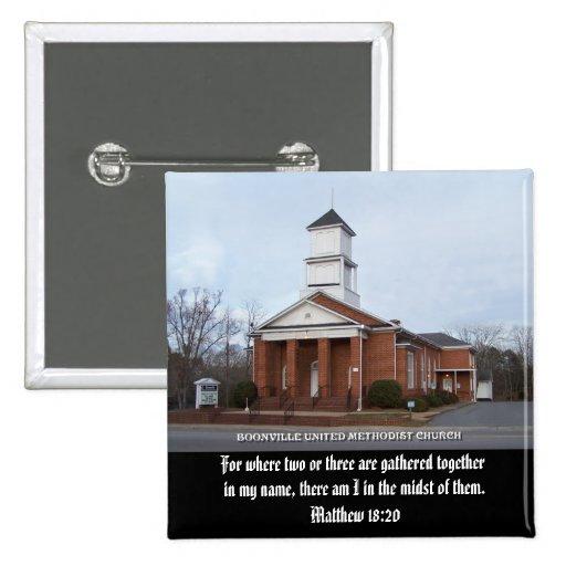 METHODIST UNIDO BOONVILLE CHURCH-BUTTON PINS