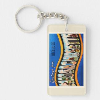 Methuen Massachusetts MA Vintage Travel Souvenir Keychain