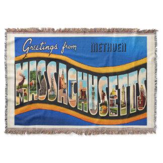 Methuen Massachusetts MA Vintage Travel Souvenir Throw Blanket